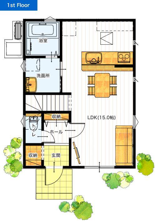 24坪 3ldk 新築プラン 価格と間取り 新築の一戸建て住宅と建売 分譲住宅 価格と間取りを大公開 熊本のサンタ不動産 家のプラン 間取り 小さな家の間取り