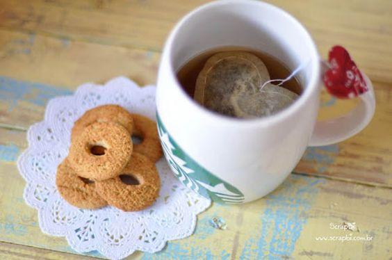 Saquinho de chá forma de coração