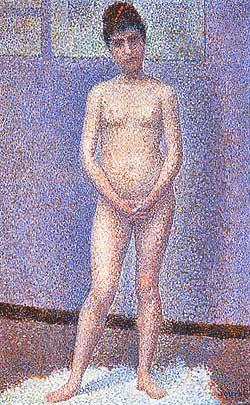 Georges Pierre Seurat (1859-1891, France)   Poseuse de face, debout (Model Standing)   1887  Musée d'Orsay