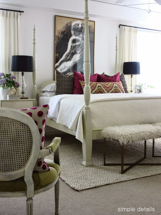 one room challenge craigslist bedroom reveal neutrals with pops of