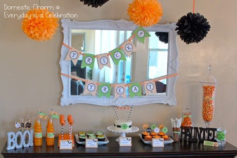 halloween decorations with candy