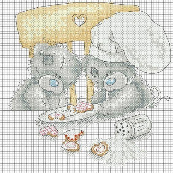 Вышивка крестом мишки