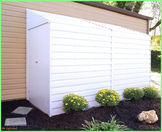 Garden Yardsaver 4 Ft 1 In W X 9 Ft 8 In D Metal Lean To Storage Shed Gardensheds Steel Storage Sheds Shed Storage Storage Shed