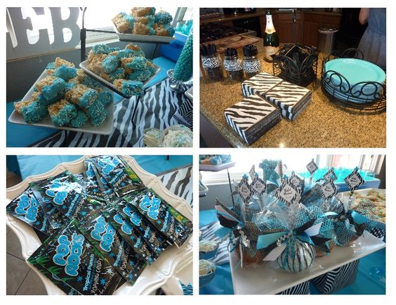 zebra blue unique baby shower theme for boys baby shower themes