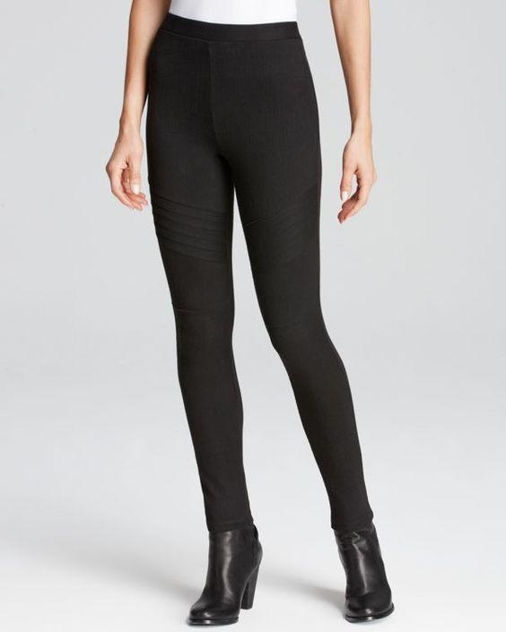 Lauren Ralph Lauren Moto Style Twill Leggings