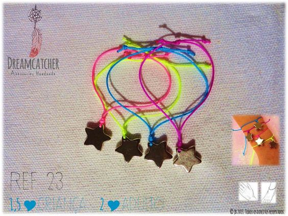 Dreamcatcher Accessories Handmade Friendship braceletes Handmade.  ☀ Shop at https://www.facebook.com/dreamcatcheraccessorieshandmade or send email to dreamcatcher.pt@gmail.com