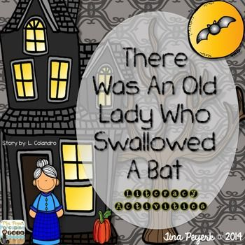 there was an old lady who swallowed a bat writing activities
