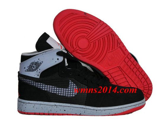 Air Jordan 1 Retro 89 Newest Mens Shoes Online Black Cement Grey: Cement Grey,