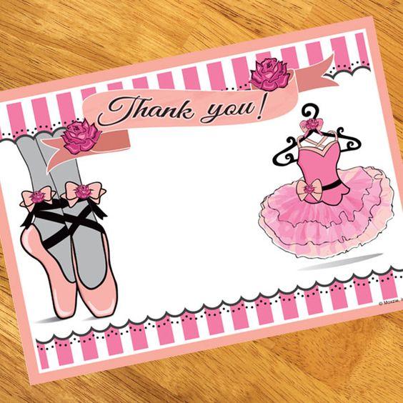 Ballerina Party Thank You Notes (8)