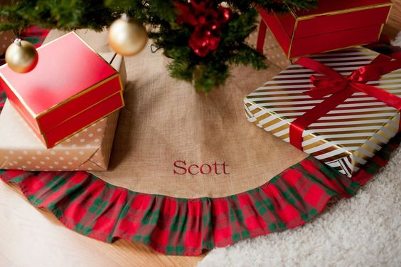 Christmas Plaid Tree Skirt