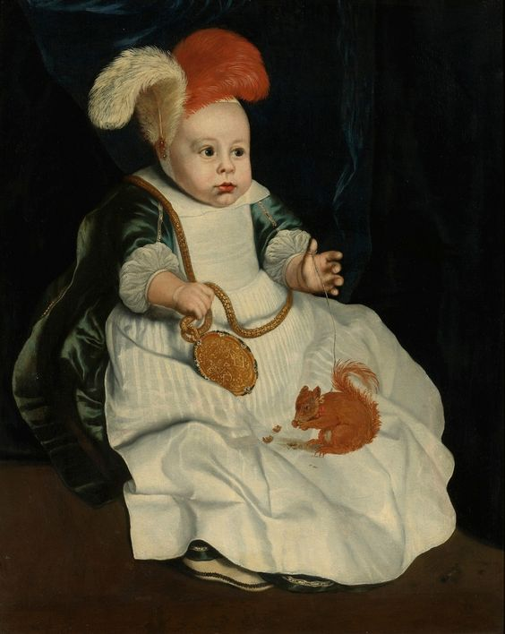 Attributed to Pieter van Lint or Peter van Lint (1609-1690) —  Portrait Of a Child With a Red Squirrel  (1222×1534)