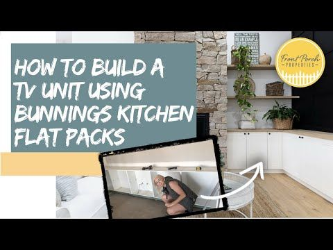 How To Build A Custom Built In Tv Unit Using Kaboodle Flat Packs From Bunnings Youtube Built In Tv Unit Tv Unit Flatpack Kitchen
