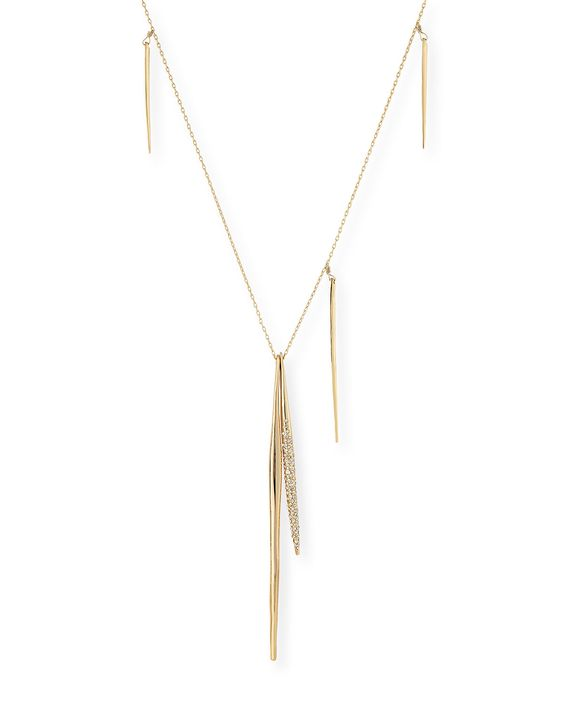 Staggered Spear Pendant Necklace