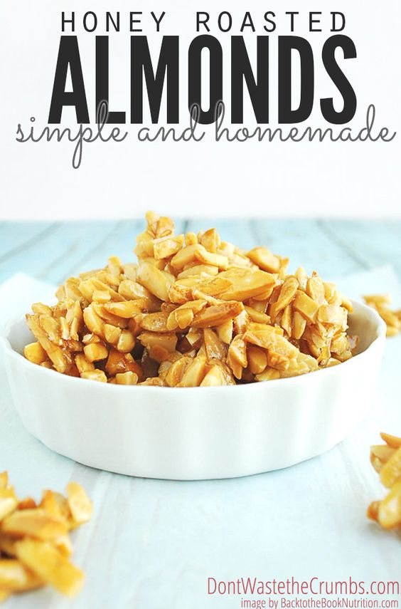 Honey roasted almonds, Roasted almonds and Almonds on Pinterest