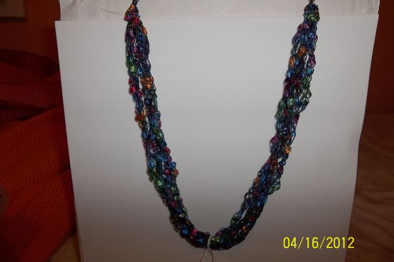 Ladder Yarn Necklaces . Will send them to anyone for 8 bucks.