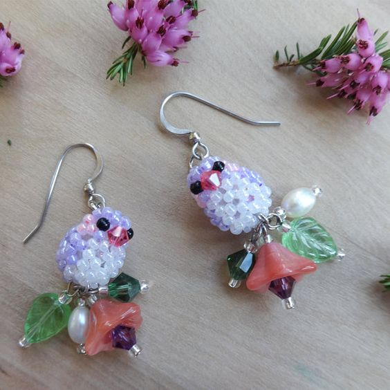 Spring/Summer Purple Earrings to match all the colourful outfits that you need for Spring and Summer! The Glittering Glade  | Colourful + Whimsical | Handmade jewellery to brighten your day! |