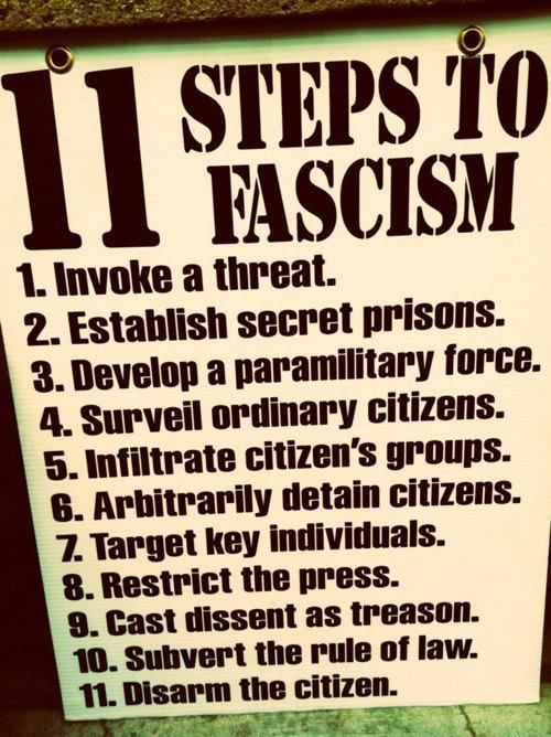 11 STEPS TO FASCISM: