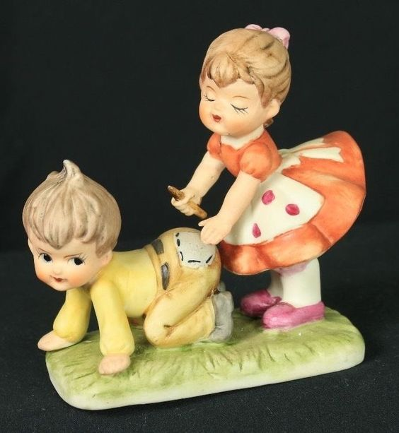 Vintage little boy and girl ceramic figure in Collectibles, Decorative Collectibles, Figurines | eBay