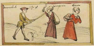 1504 Das Volkacher Salbuch - Eine illustrierte Rechtsordnung - Vor der Stadt [folio 442v]