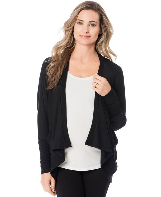 A Pea In The Pod Maternity French-Terry Open-Front Cardigan