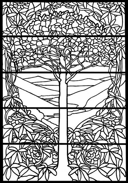 Tiffany stained glass, Coloring pages and Stained glass on ...