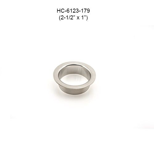 Round Stainless Steel Grommet, 2-1/2in by 1in