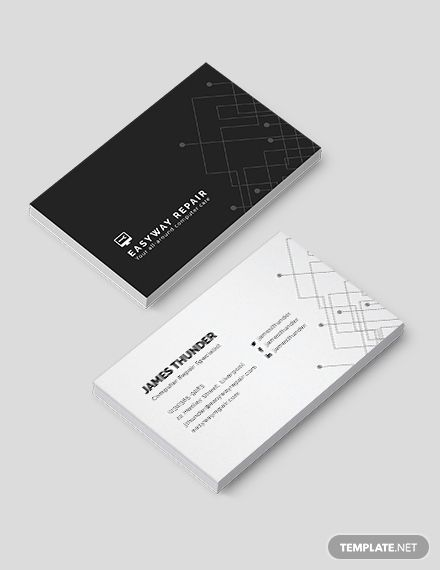 Computer Repair Business Card Template Free Jpg Illustrator Word Apple Pages Psd Publisher Template Net Computer Repair Business Business Cards Creative Free Business Card Templates