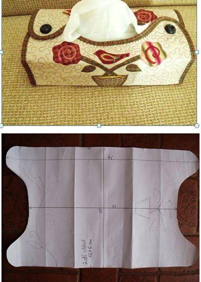Idea para guardar pañuelos desechables.