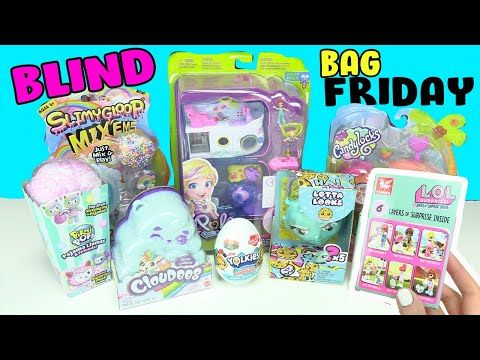 Blind Bag Friday Toys Lol Surprise Lotta Looks Slime Polly Pocket Cloudees Toy Caboodle Youtube In 2020 Blind Bags Polly Pocket Slime