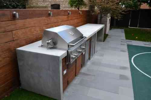 Barbecue Fixe Fonctionnel Et Esth Tique Dans Le Jardin Moderne Barbecue