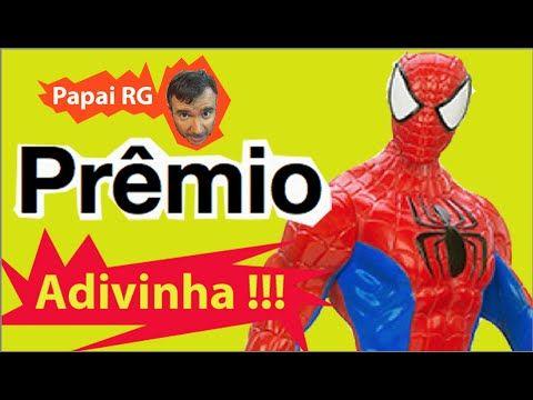 Pegadinha Adivinha  Prêmio boneco Homem Aranha  Marvel respostas até 20:...