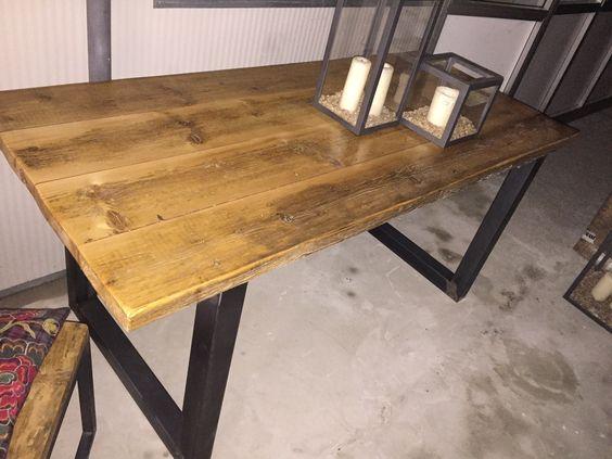 Table ou bureau de fabrication artisanale style industriel fabrication sur mesure par les - Fabriquer table pliante murale ...