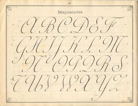 French Penmanship Typography Pinterest Cases