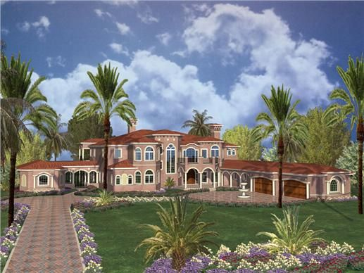 Luxury home plans aa11027 01100 are two story set of for Two story mediterranean house plans