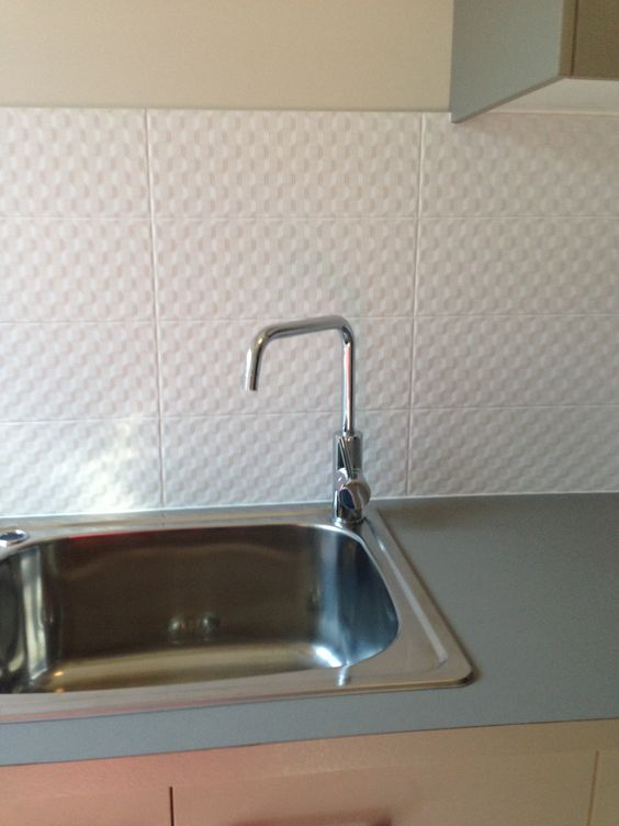 Laundry Splashback <3 Textured White.