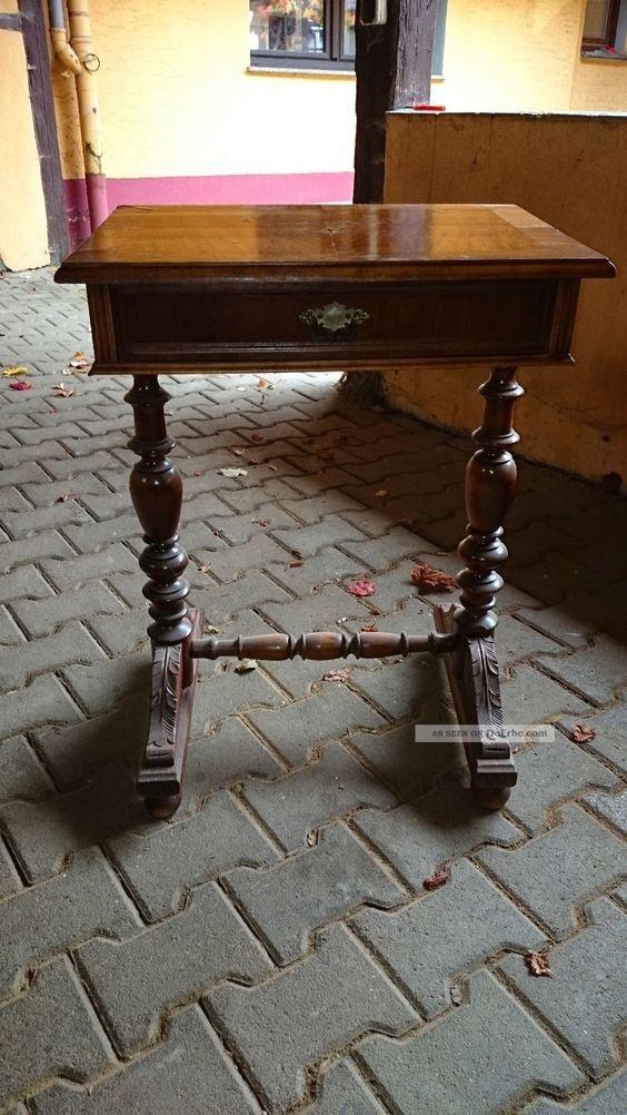 Beistelltisch Tischchen Telefontisch Gründerzeit Antik Antike Originale vor 1945 Bild