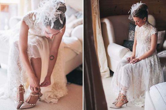 Vintage Hochzeit in Bayern von Nancy Ebert | Hochzeitsblog #vintage #kleid #hochzeitskleid