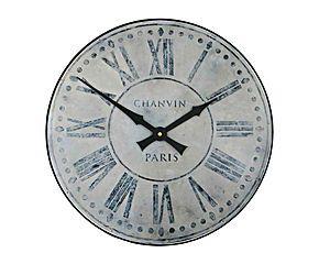 Horloge murale Chanvin Paris, bois - Ø36