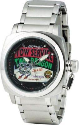 Relógio Ed Hardy Fastlane Dragon Black Dial Men's watch #FL-DR #Relogio #EdHardy