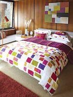 Blocks bed linen range in green zest