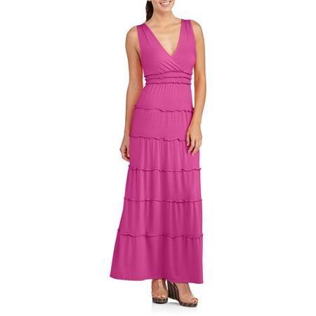 Fourteenth Place Women's Surplus Peasant Maxi Dress