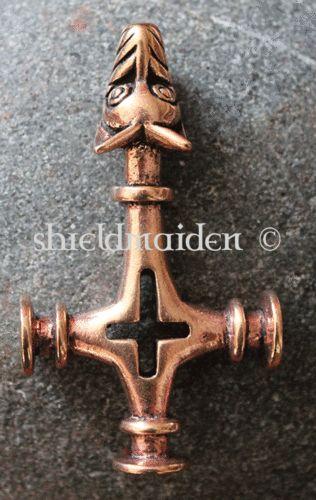 Huge Bronze Icelandic Wolf Cross Thors Hammer Mjolnir Viking Pagan Heathen Thors Hammer Vikings Mjolnir