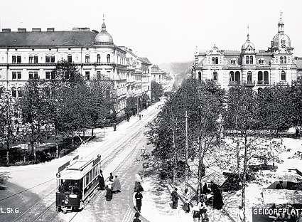 Anno 1919: Der Zweier an der Haltestelle Geidorfplatz