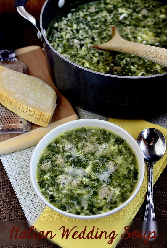 Italian Wedding Soup.  Will make my own version of healthier mini meatballs. iowagirleats.com