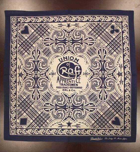 GARYU   Rakuten Global Market: Indigo blue made in RRL / double are L indigo dyeing bandana Japan