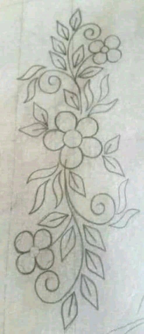 Pin By Sonia Kiszka On Falda Embroidery Flowers Pattern Hand Embroidery Flowers Hand Embroidery Designs