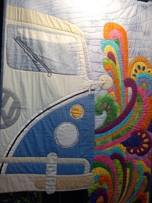 Whoa! Love this quilt   Quilts   Pinterest   Trees, Quilt and Volkswagen