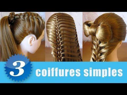 Videotuto Coiffures Pour Tous Les Jours Tuto Facile Pour Les Cheveux Long Mi Long Cheveux Coiffures Coiffures Pour Tous Les Jours Coiffure Cheveux Long
