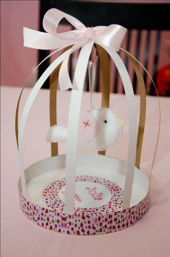 Gaiola de papel | Recuerdos | Pinterest | Artesanato, Duchas y Baby ...