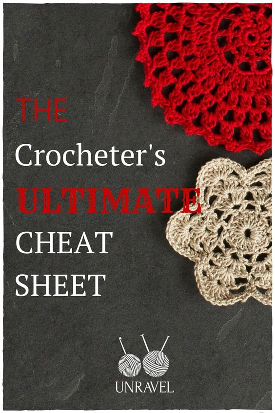 How to do crochet, Cheat sheets and Crochet stitches on Pinterest